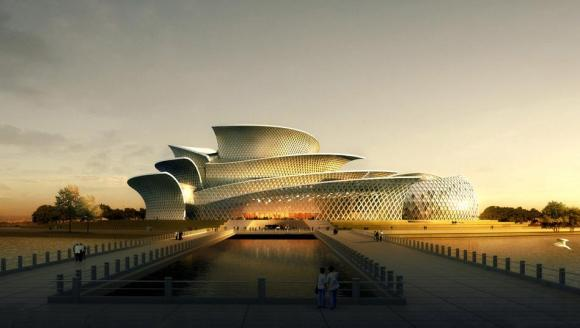 Dongying, shandong province, city of snow lotus grand theatre